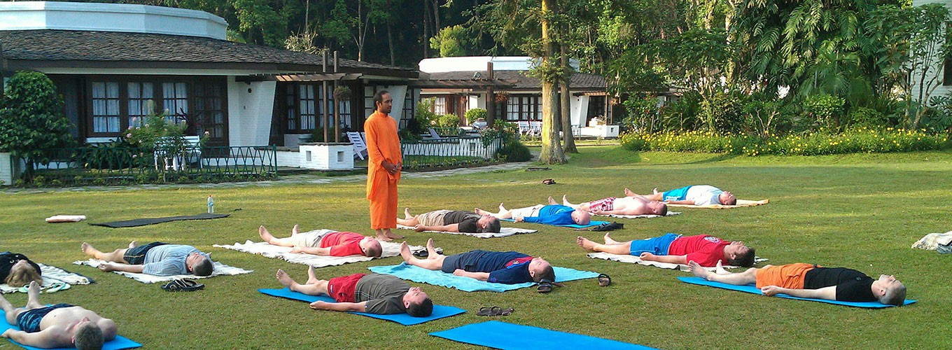 Yoga meditation retreat