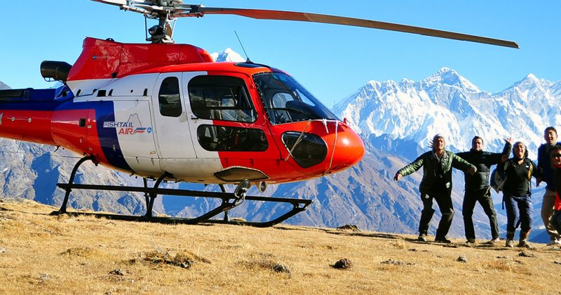Tengboche monastery helicopter tour